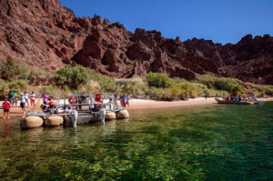 fleuve colorado en canot helicoptere las vegas
