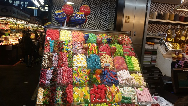 Barcelone mercado de la Boquerilla bonbons