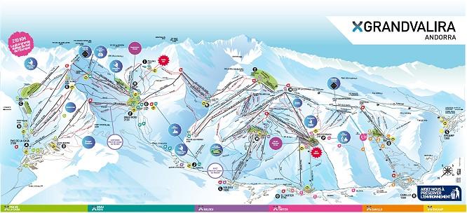 Andorre piste de ski