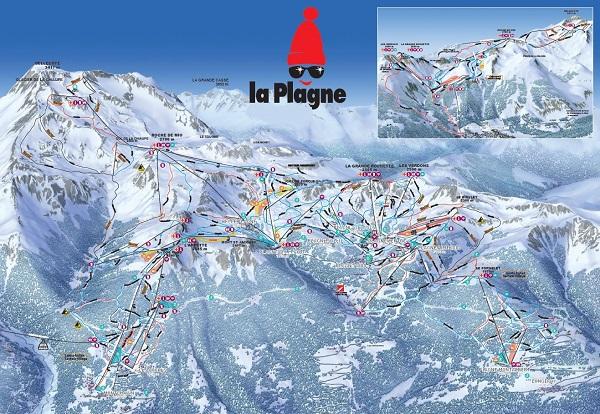La Plagne piste de ski