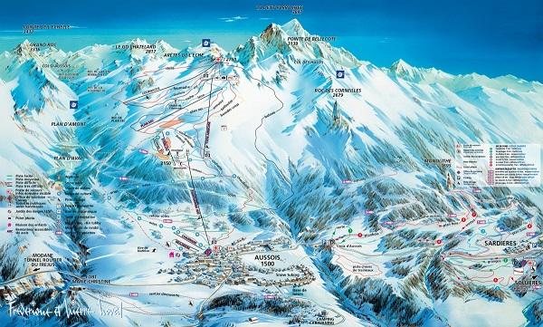 Aussois piste de ski