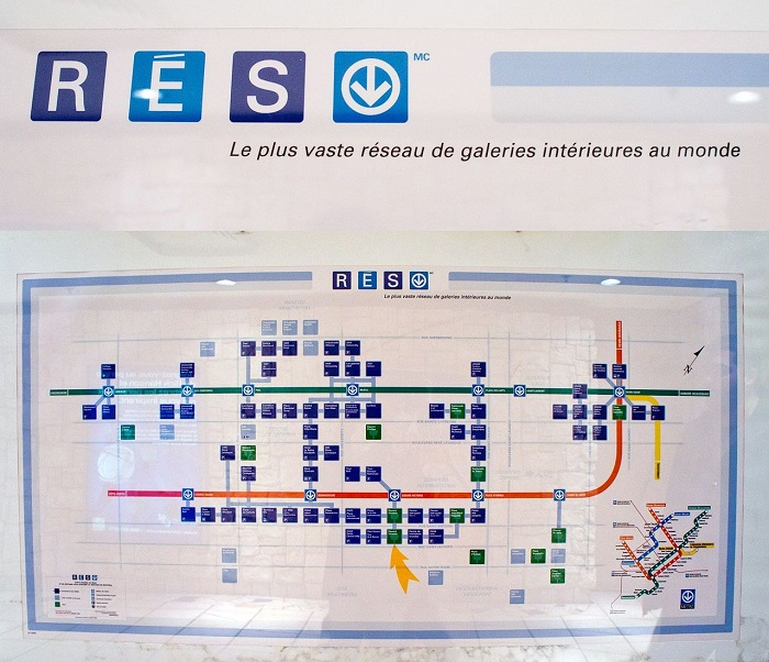 la ville souterraine de Montreal RESO