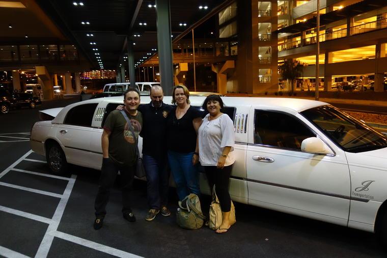 transfert en limousine à Las Vegas